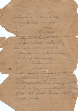 This is the original copy of the recipe as written by my Aunt Helen for my Grandma Minnie.