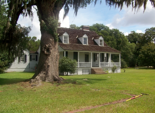 A circa 1828 Lowcountry farmhouse which serves as the visitor center at The Charles Pinckney Plantation National Historic SIte.