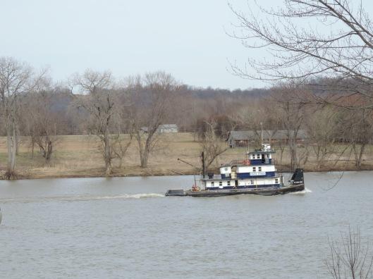 tugboats on the Ohio  River.