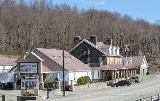 Chicken and Dumplings and Slow Pot Roast at Stone House Restaurant along the National Pike, US40, in Farmington, PA.