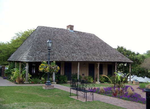 The Roque House sits on the bank of the Cain River in Natchitoches.
