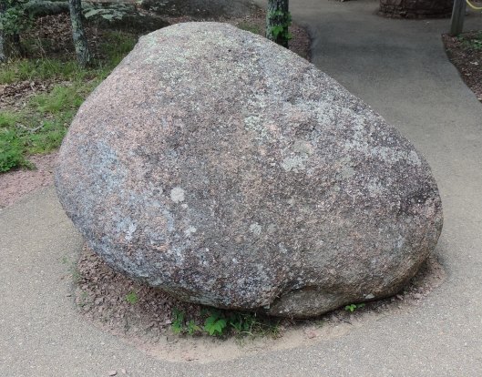 Can you guess how much this granite boulder weighs? It weighs 8,500 pounds, as much as a full-sized pickup truck.