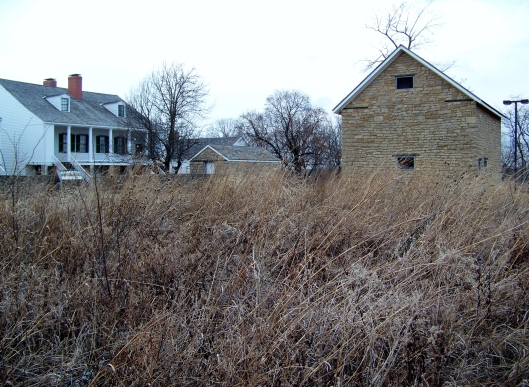 If you walk behind the fort, along a short nature trail, you can still see the results of Kansas prairie restoration.