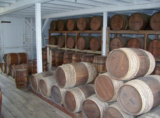 The Quartermaster was also in charge of commissary which held the supplies for the fort.