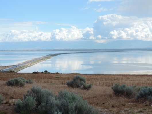 The Antelope Island State Park Causeway