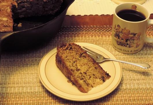 Zucchini Pineapple Bread made in Grandma's cast iron pan.