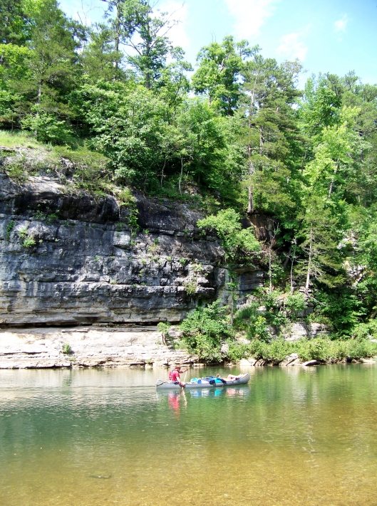 Canoeing on the Buffalo River.