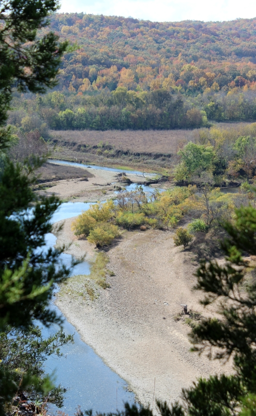 The Buffalo River from the trail at Tyler Point.