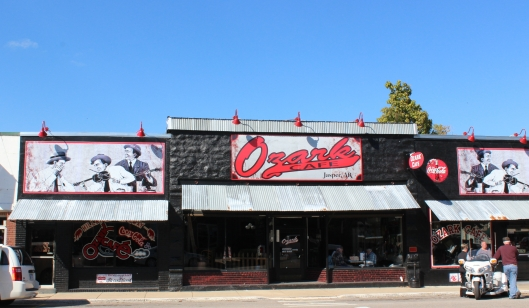 the Ozark Cafe in Jasper, Arkansas...you won't be hungry for a long time!