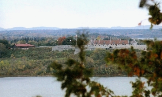 There is an overlook on one of the trails from which you can see Fort Ticonderoga across Lake Champlain.