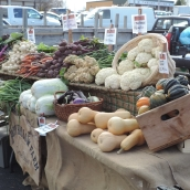 The Farmers Market will move inside next week...I so love fresh food!