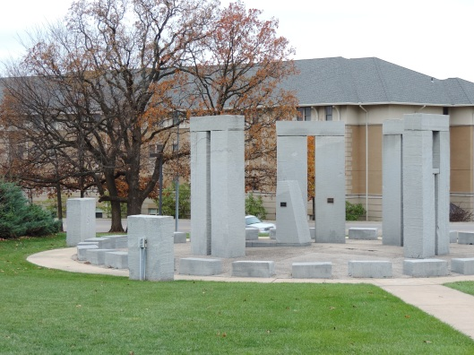 Our Stonehenge in, Rolla, MO, sits among modern buildings. Thousands of automobiles drive past it each and every day.