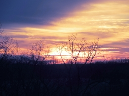 we are often treated to a gorgeous winter sunset.