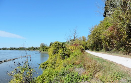 The Katy Trail follows the Missouri River for most of its length.