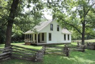 A recreation of the house that Moses Carter built in 1881. George never lived in the house.