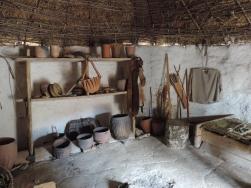 Inside a village hut