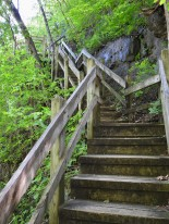 The wooden steps seems to just keep being along your path...but they do end!