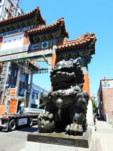 the entrance to Chinatown in Portland's Old Town...