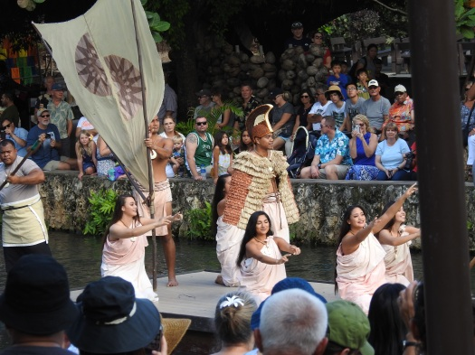 The highlight of the center is the canoe pageant portraying the history of the Polynesian islands according to custom and their belief system.