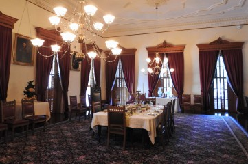 The elegant dining hall