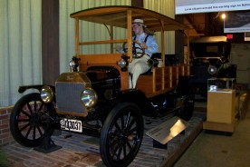 A model of the first Model T which was introduced in 1908, when Laura was 41 years old.