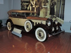 Cars got bigger, faster, sleeker, and fancier as time went by. This is a 1930 Packard we saw at the Gilmore Car Museum in Hickory Corners, Michigan.