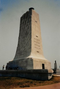 The monument to the first flight that we visited several years ago in Kitty Hawk.